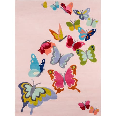 Momeni Lil Mo Whimsy Butterfly Flutter Hand Tufted Polyester Contemporary Area Rug