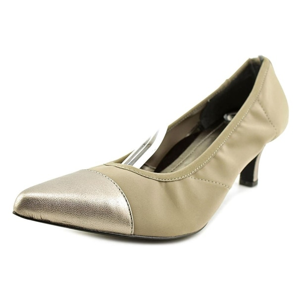 Ros Hommerson Keisha Women N/S Pointed Toe Patent Leather Silver Heels