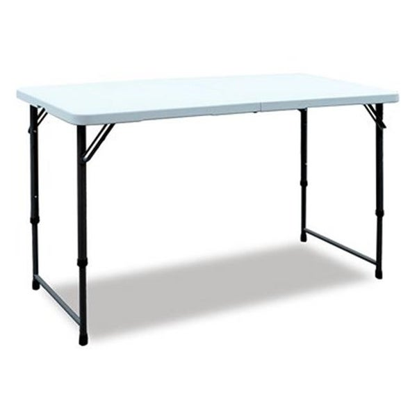 Shop Gsc Technologies 239844 4 Ft White Folding Table Free Shipping Today Overstock Com 24871614