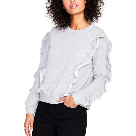 Rachel Rachel Roy Womens Sweatshirt, Crew Ruffled Long Sleeve