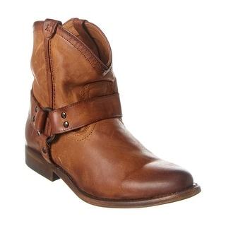 Frye Wyatt Leather Harness Bootie