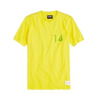 Good Life X Pepsi Number 14 T-Shirt Medium M Yellow Cotton Crewneck Tee