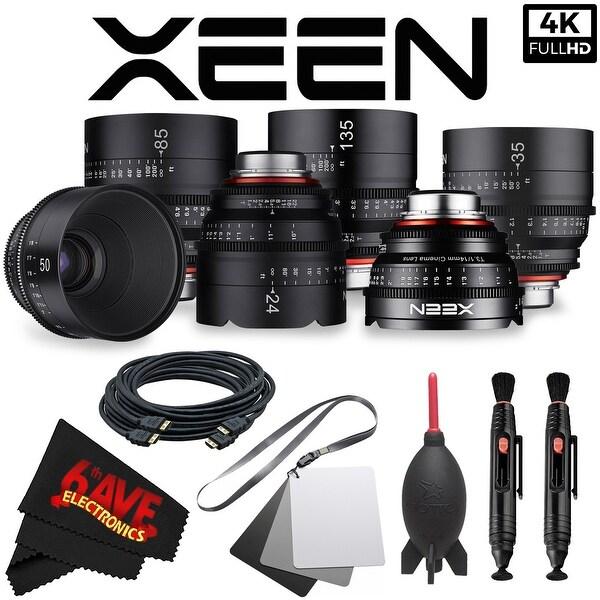Rokinon Xeen 14mm T3.1 Lens for PL Mount XN14-PL + Rokinon Xeen 24mm T1.5 Lens for PL Mount + Rokinon Xeen 35mm T1.5 Lens Bundle