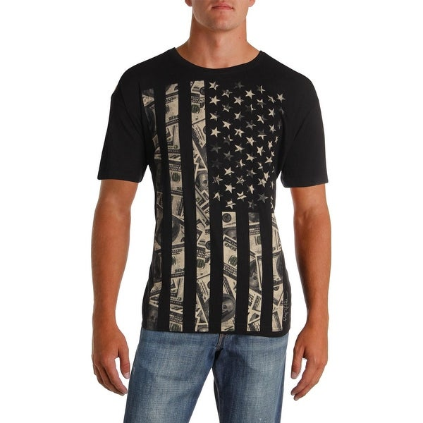7c40eef67 Shop Ring Of Fire Mens Vertical Money Flag Graphic T-Shirt Cotton Short  Sleeves - XL - Free Shipping On Orders Over $45 - Overstock - 26173547