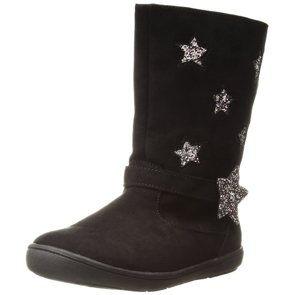 Rampage Kids' Rak Lil Estela Pull-on Boot, Black, Size