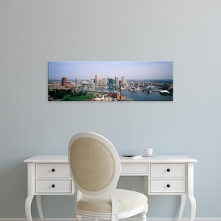 Easy Art Prints Panoramic Images's 'Skyscrapers in a city, Baltimore, Maryland, USA' Premium Canvas Art