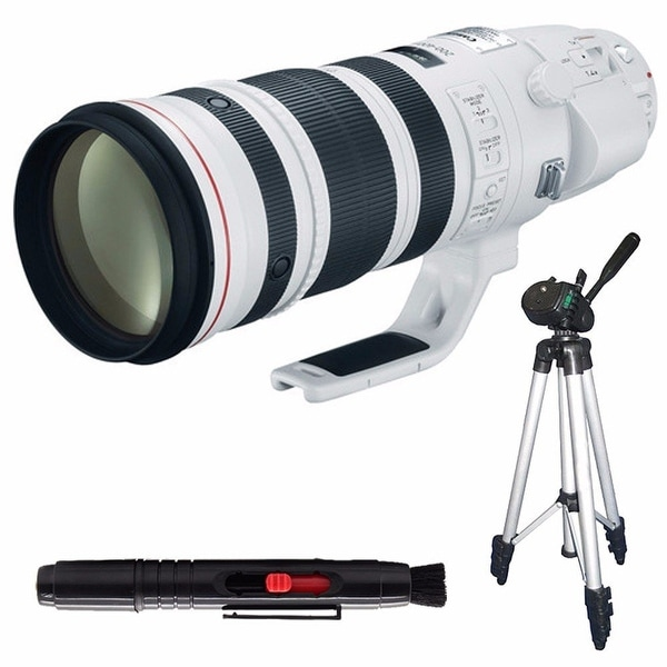 Canon EF 200-400mm f/4L IS USM Lens (International Model) + Full Size Tripod Bundle