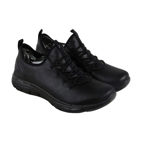 Skechers Flex Appeal 2.0 Top Story Mens Black Leather Athletic Training Shoes