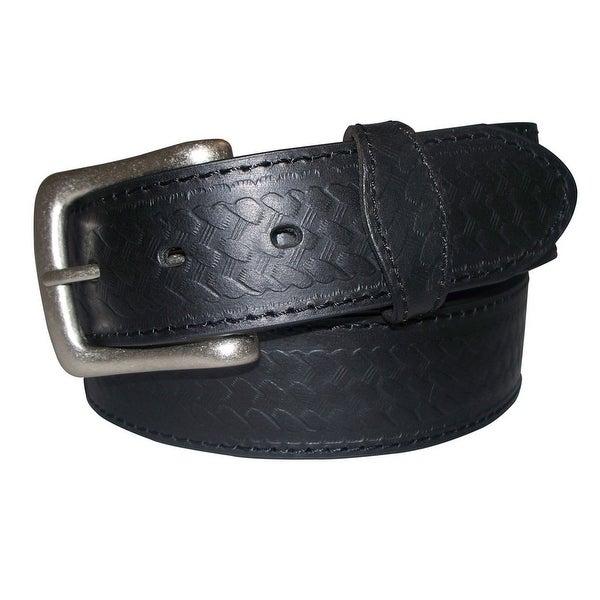 G-Bar-D Western Belt Mens Bridle Top Grain Leather Embossed