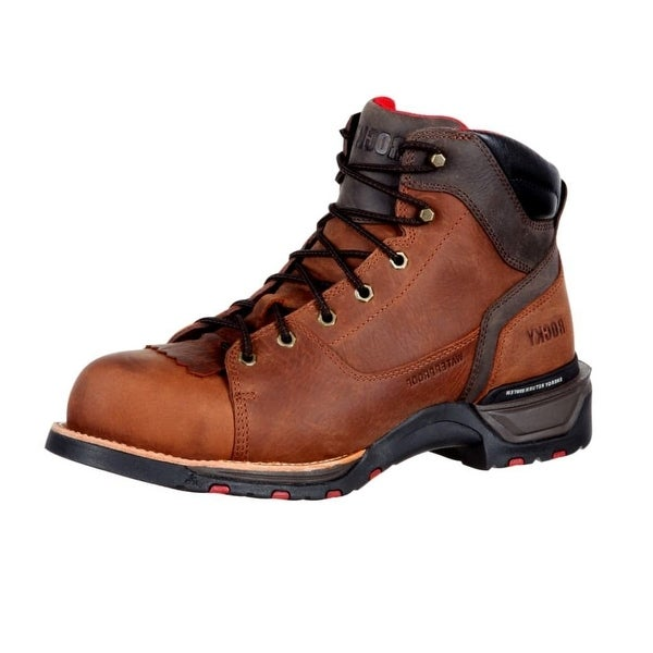 Rocky Work Boots Mens Composite Toe Antiqued Copper Brown