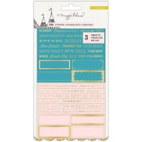 """Maggie Holmes Carousel Clear Stickers 4.35""""X8.2""""-W/Gold Foil"""