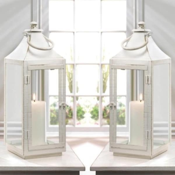 Set of 2 Traditional White Lanterns. Opens flyout.