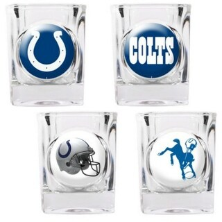 Great American Products Indianapolis Colts Shot Glass Set 4pc Collectors Shot Glass Set