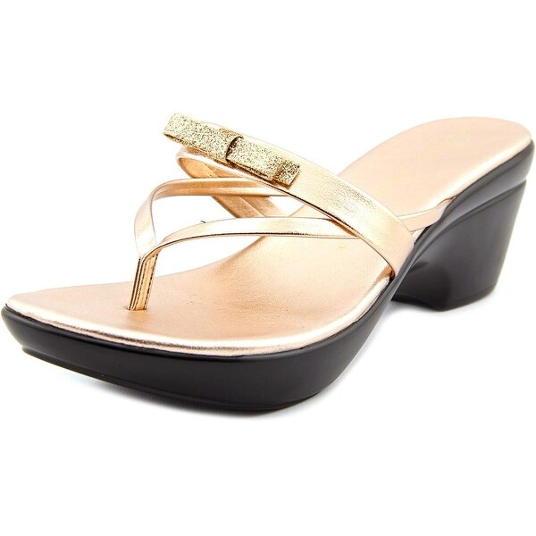 Athena Alexander Leon Women Open Toe Synthetic Bronze Platform Sandal