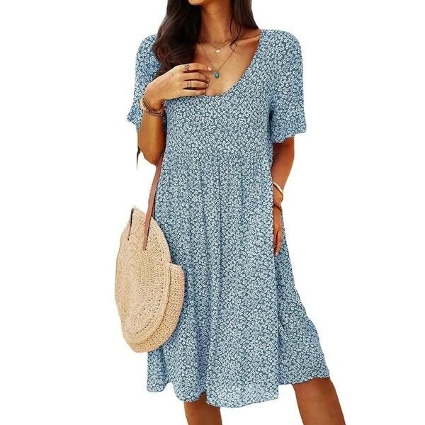 Urban Casual Retro Women's Short Sleeve Dress. Opens flyout.