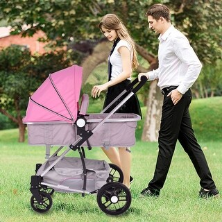 Costway 2 In1 Foldable Baby Stroller Kids Travel Newborn Infant Buggy Pushchair Pink|https://ak1.ostkcdn.com/images/products/is/images/direct/2ff82c36dd4a5b6469d4832f1e81ebb1a096a8c6/Costway-2-In1-Foldable-Baby-Stroller-Kids-Travel-Newborn-Infant-Buggy-Pushchair-Pink.jpg?_ostk_perf_=percv&impolicy=medium