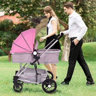 Costway 2 In1 Foldable Baby Stroller Kids Travel Newborn Infant Buggy Pushchair Pink|https://ak1.ostkcdn.com/images/products/is/images/direct/2ff82c36dd4a5b6469d4832f1e81ebb1a096a8c6/Costway-2-In1-Foldable-Baby-Stroller-Kids-Travel-Newborn-Infant-Buggy-Pushchair-Pink.jpg?impolicy=medium