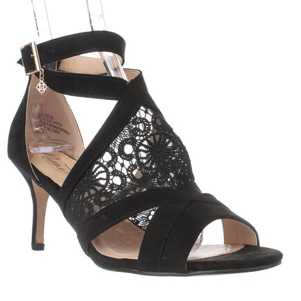Nanetta Nanette Lepore Bliss T-Strap Sandals, Black