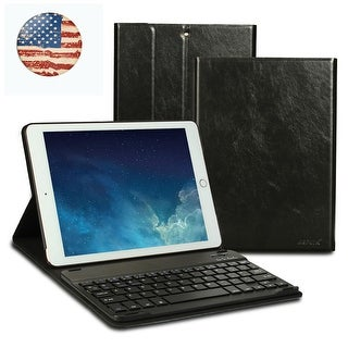 AGPtek iPad Keyboard Case for iPad 9.7 2017 (A1822 A1823), iPad 9.7 2018 (A1893 A1954), Black