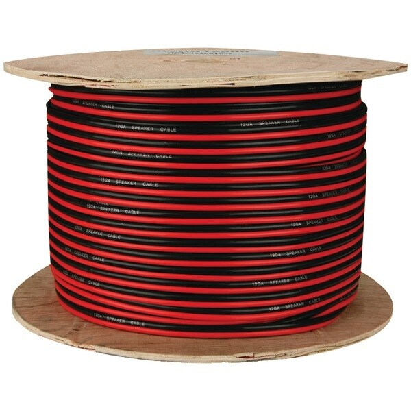 Install Bay Swrb16-500 Red/Black Paired Primary Speaker Wire, 500Ft (16 Gauge)