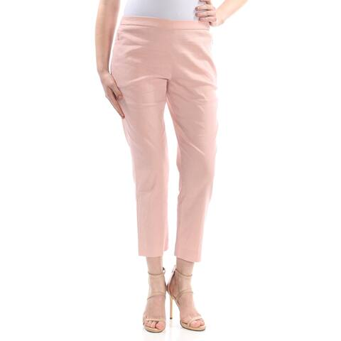 THEORY Womens Pink Darted Pull On Wear to Work Pants Size 6