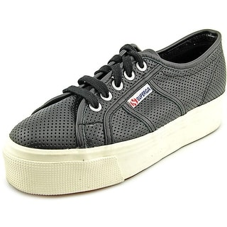 Superga 2905 Perfleaw Round Toe Leather Sneakers