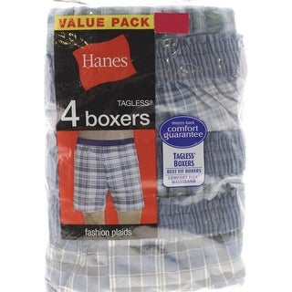 Hanes Mens Cotton 4PK Boxers - S