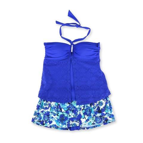 Jones New York Womens Crochet Wrap Skirt 2 Piece Tankini