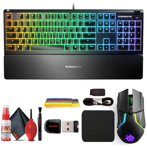 SteelSeries Apex 3 RGB Gaming Keyboard + Rival 650 Wireless Mouse