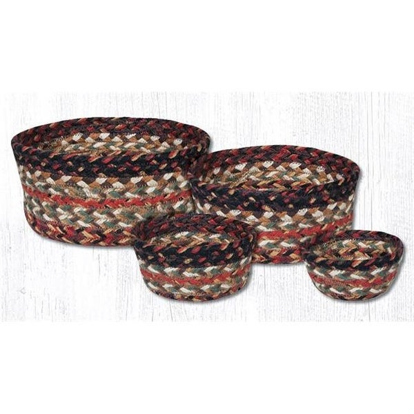 Shop Jute Round Burgundy Craft Spun Table Basket Set Of 4 Free