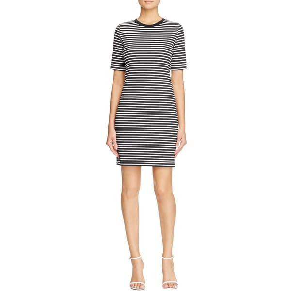 cb368efce0d Shop MICHAEL Michael Kors Womens T-Shirt Dress Knit Striped - Free Shipping  On Orders Over  45 - Overstock - 15442124