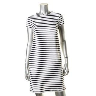 Lauren Ralph Lauren Womens Petites Wear to Work Dress Striped Cap Sleeves