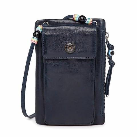 Old Trend Genuine Leather Rillet Wallet-Crossbody