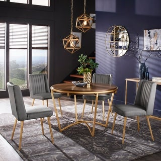 Link to Vanderson Natural Wood and Gold Dining Set by iNSPIRE Q Modern Similar Items in Dining Room & Bar Furniture