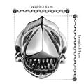 Vienna Jewelry Stainless Steel Shark's Jaws Ring - Thumbnail 1