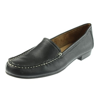 Naturalizer Womens Simmons Leather Moc Toe Loafers