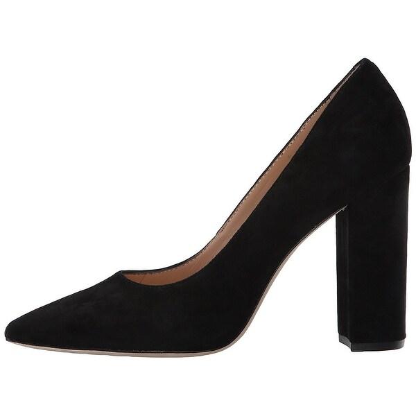 Pour La Victoire Womens Celina Suede Pointed Toe Classic Pumps