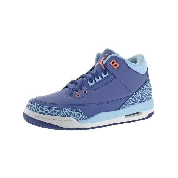e4540c02ef3d6a Shop Jordan Girls Air Jordan 3 Retro Fashion Sneakers Printed High ...