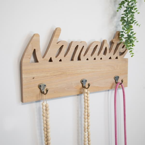 Stratton Home Decor Namaste Wall Hooks 20 00 X 2 16 X 10 00 On Sale Overstock 31945514