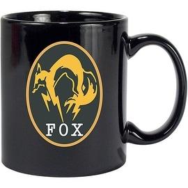 Gaya Novelty Black/ Yellow Metal Gear Solid V Logo Ceramic Coffee Mugs