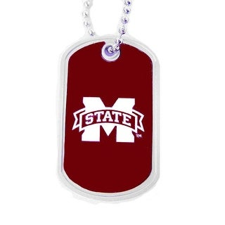 Mississippi State Bulldogs Dog Tag Necklace Charm Chain NCAA