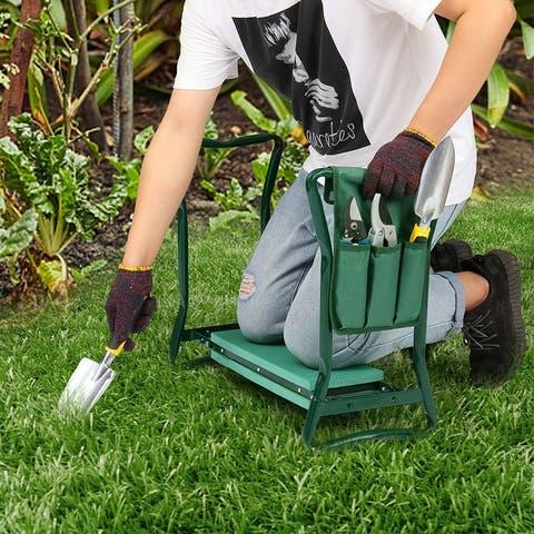 Practical Iron Garden Kneeling Stool Green