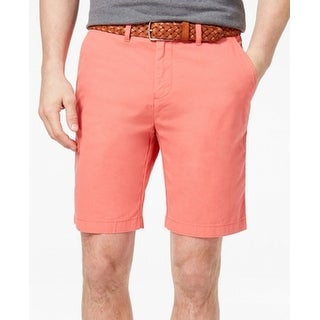 Tommy Hilfiger Orange Mens Size 40 Khaki Chino Classic Fit Shorts