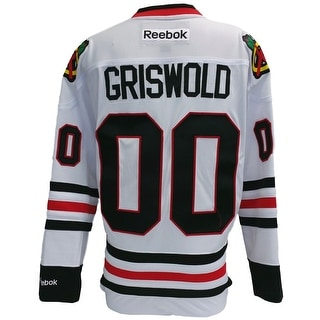 Chevy Chase Blackhawks Griswold Christmas Vacation Reebok Premier Jersey Large