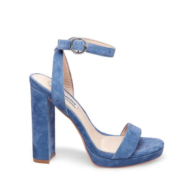 Steve Madden Womens Addon Leather Open Toe Casual Ankle Strap Sandals - 8.5