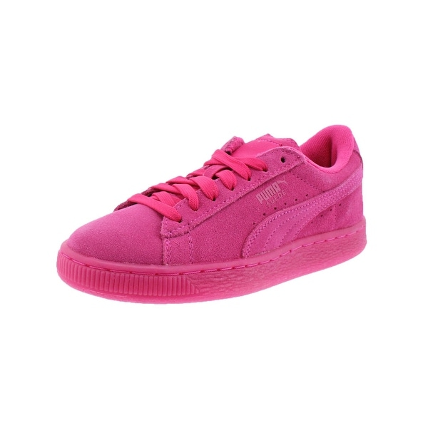 518a349cfe495 Shop Puma Girls Suede Iced Fluo Jr Fashion Sneakers Classic Casual ...