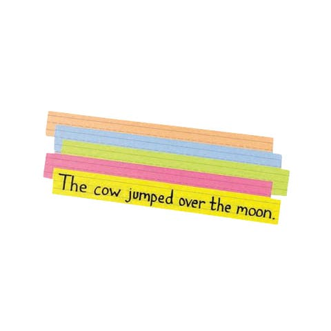 Pacon Sentence Strips, 3 x 24 Inches, Assorted Bright Colors, Pack of 100