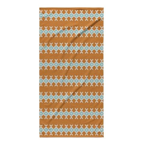 "LAGUNA ORANGE Beach Towel By Kavka Designs - 36"" x 72"""