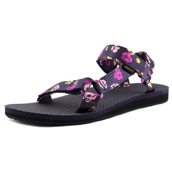 Teva Original Universal Floral Women Open-Toe Canvas Purple Sport Sandal
