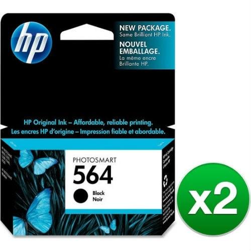 HP 564 Black Original Ink Cartridge (CB316WN)(2-Pack)